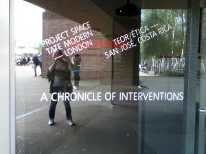 title A Chronicle of Interventions Tate