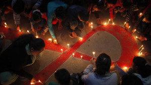 Nepalese Women and Children on World AIDS day