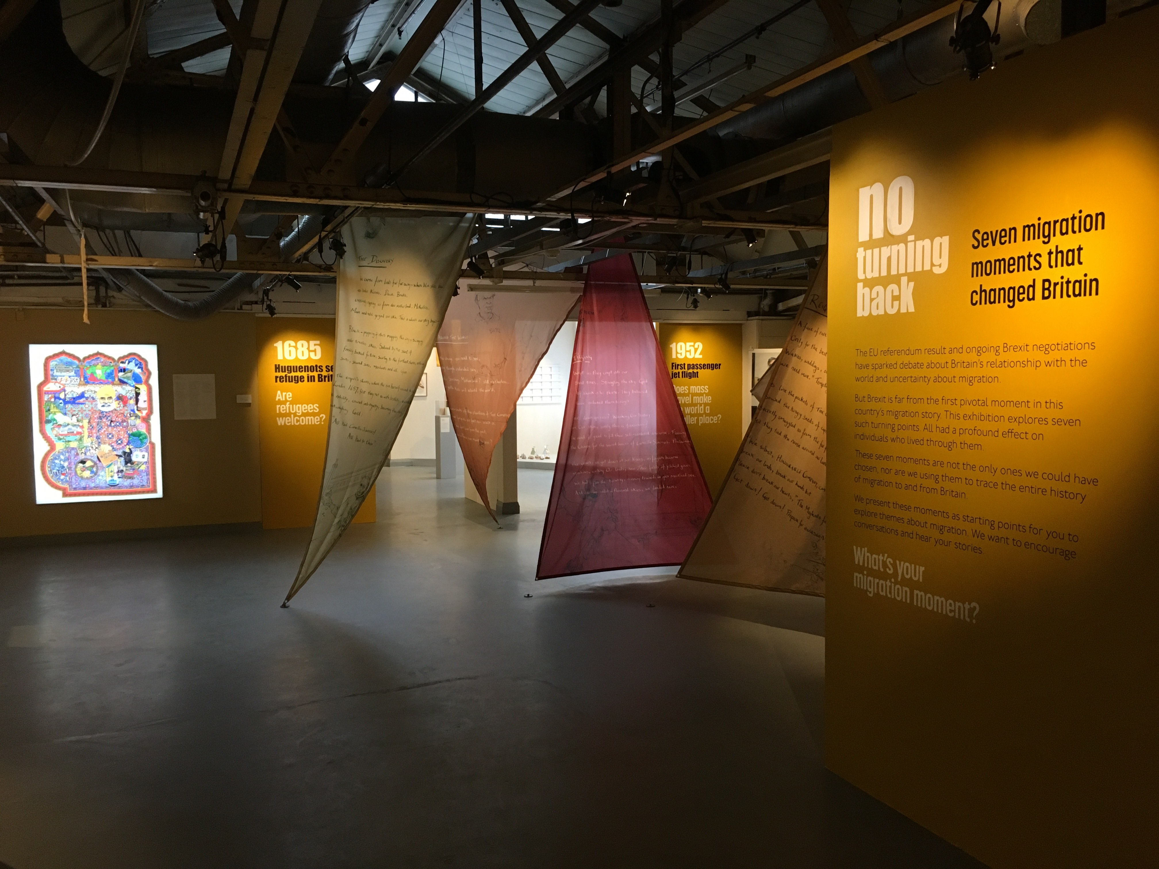 D Exhibition Uk : Migration then and now a european and uk perspective art and